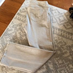 Additions by Chico's boot cut tan jeans